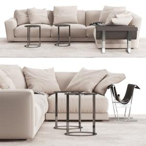 B&b Italia Sofa And Tables