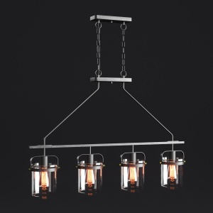 Portland 4 Light Kitchen Island Linear Pendant