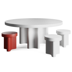 Azo Dining Table And Stools