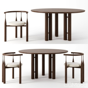 Martini Dining Table & Chair by Steven Bukowski
