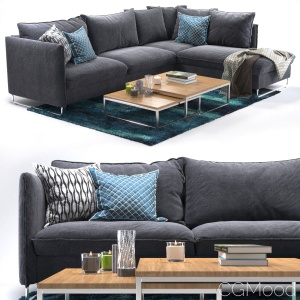 Flipper Corner Sofa And Ikea Rug