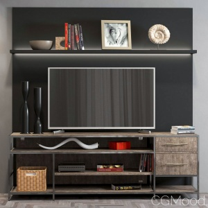 Tv Decorative Shelf 01