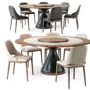Tonin Casa Dolly Table Malva Elite Chair