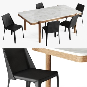 Gustav Table And Isabelle Chair