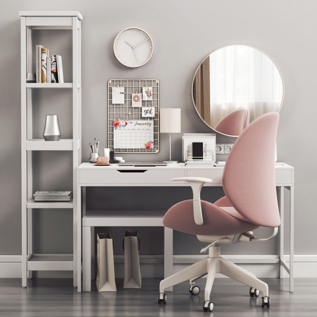 Women S Dressing Table And Workplace 3d Model For Vray Corona