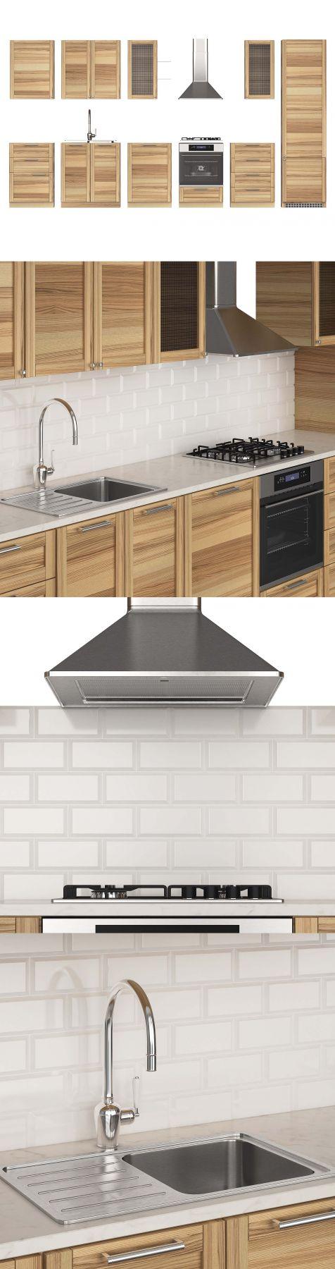 Kitchen Ikea Metod Torhamn 3d Model For Vray Corona