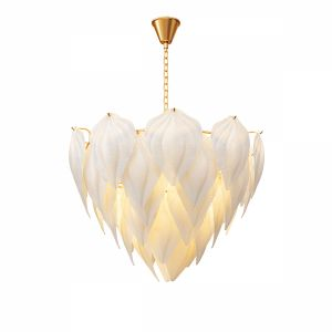 Fashion Design Art Decorative Glass Leaf Chandelie