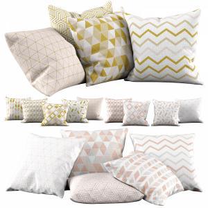 Pillow Set 26   Golden Pattern