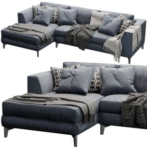 Meridiani Louis Up Sofa Blue