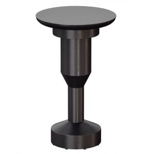 Statuer Black Wood End Table