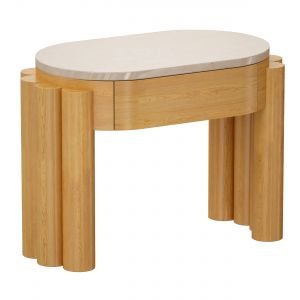 Oasis Oval Wood End Table