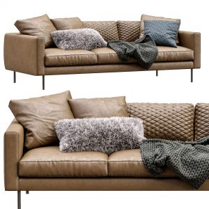 Boutique Leather Sofa By Moooi