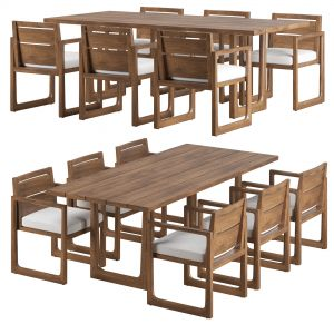 Rh Navaro Dining Set