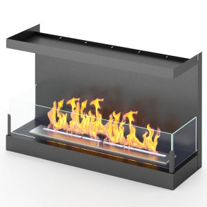 Frontal Built-in Biofireplace Luxfire