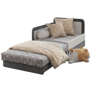 Children Open Bed Sofa And Shiba Toy