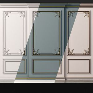Wall Molding 20 Boiserie Classic Panels