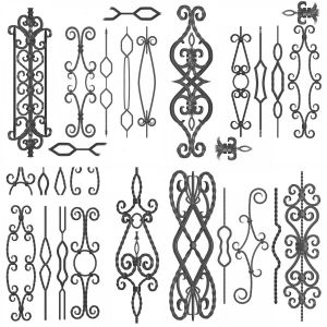 Wrought iron panel collection 02