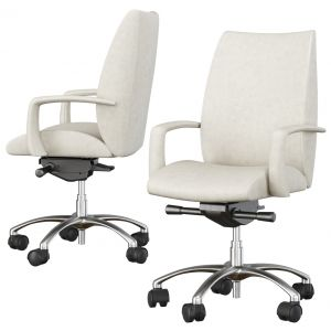 Detente Executive Mid Back Swivel Chair By Hbf