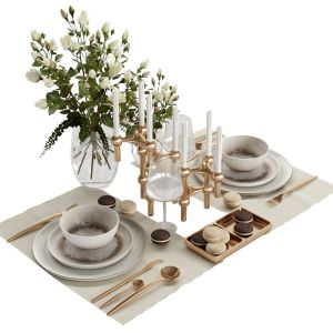 Tableware With Roses