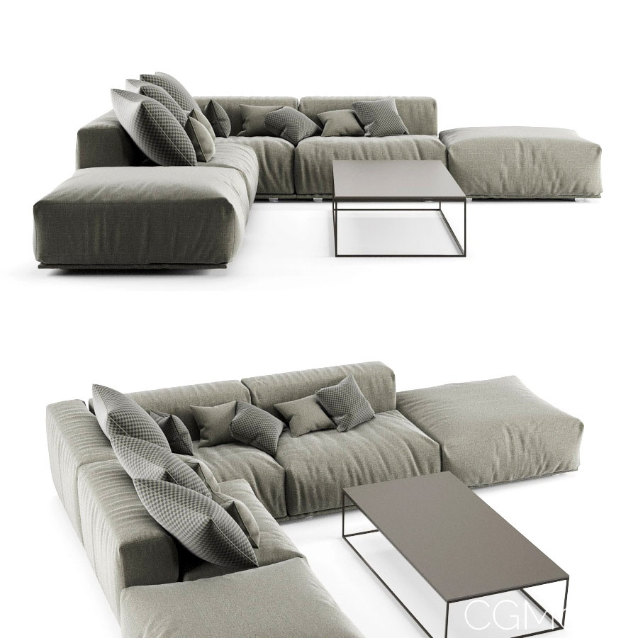 Poliform Bolton Sofa and Table