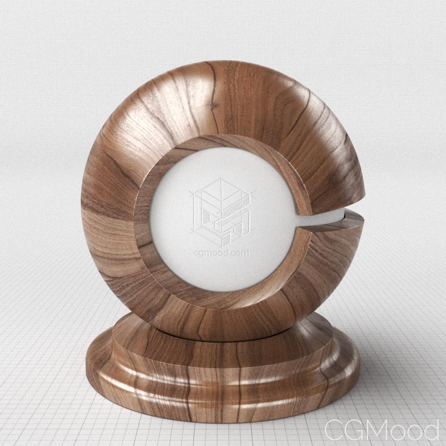 Deep veneer wood material