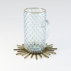H&M Jug In Textured Glass