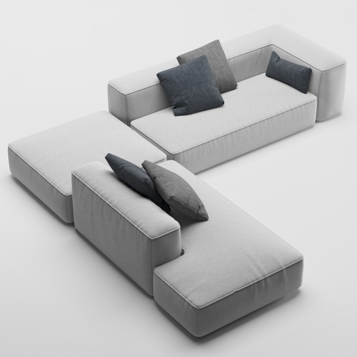 Lema Cloud Sofa Model For Vray Corona