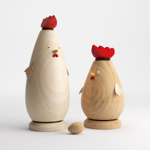 Toy-hen And Rooster_001
