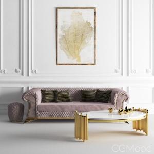 Zebrano Casa Diamon Sofa