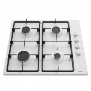 White Gas Cooking Panel Bosch Pbp6b2b60