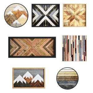 Geometric wooden wall art Ikea