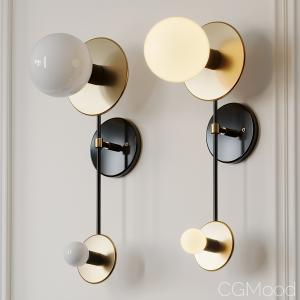 Double Wall Brass Sconce By Etsy