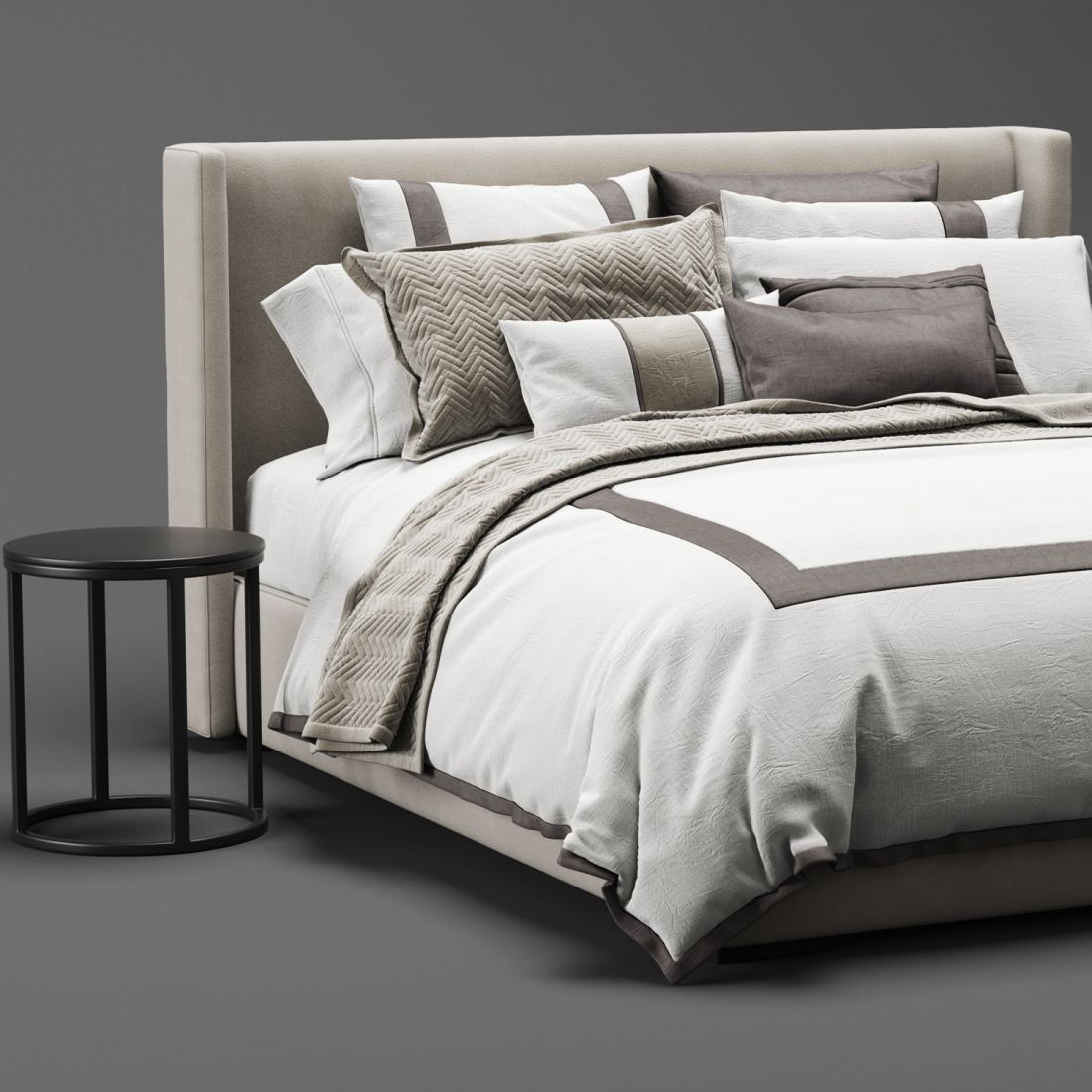 Rh Lawson Bed 3d Model For Vray