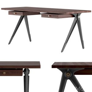 District Eight - Compass Desk Double Drawer