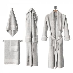 White Bathrobe And Towels