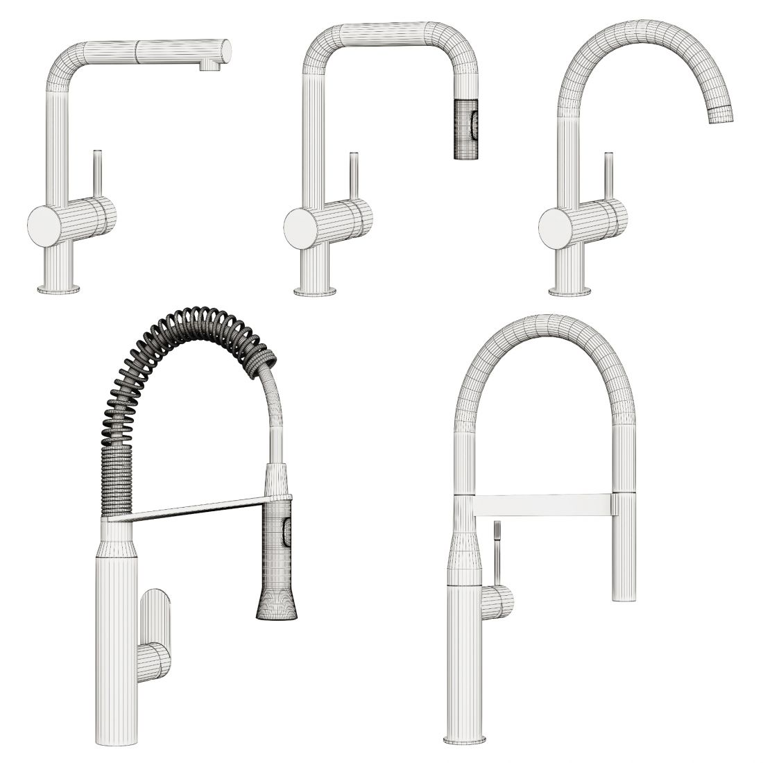 Kitchen Faucets Grohe 3d Model For Vray Corona