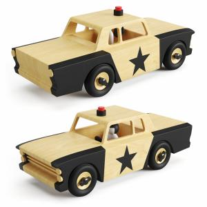 Wooden Toy Police Car