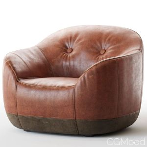 Armchair, Natuzzi, Furrow