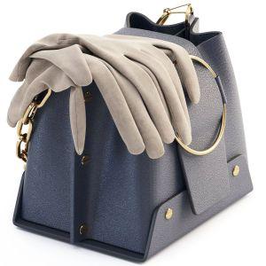 Yuzefi Blue Navy Delila Mini Bag