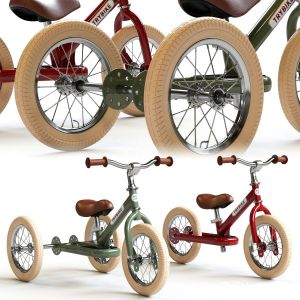Trybike Tricycle Et Draisienne Acier 2-en-1 Vintag