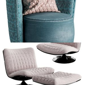 Arm chair set 02
