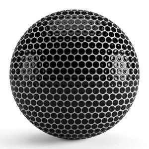 Round Black Tiles 003