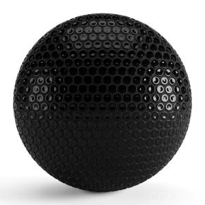 Round Black Tiles 004