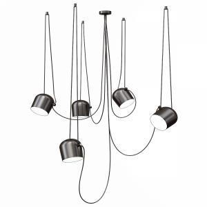 Flos Aim 5 Pendant Lighting - Black And White