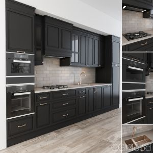 Neoclassic Kitchen Black