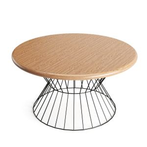 Industrial Circular Wooden Table