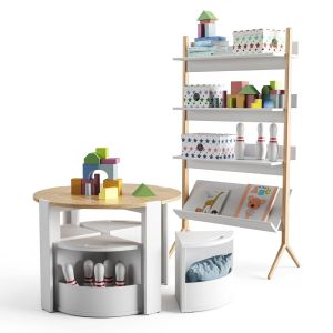 Set Of Children's Furniture, Decor And Toys