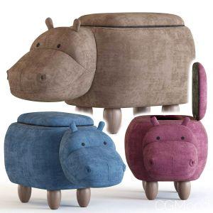 Hippo Children's Storage Stool