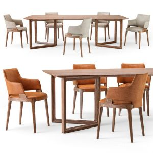 Potocco Velis Armchair Opus Table