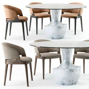 Potocco Velis Tub Chair Anfora Table